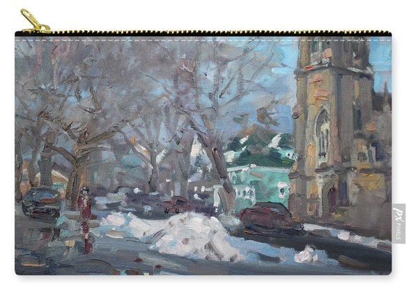Snow Day At 7th St By Potters House Church Carry-all Pouch