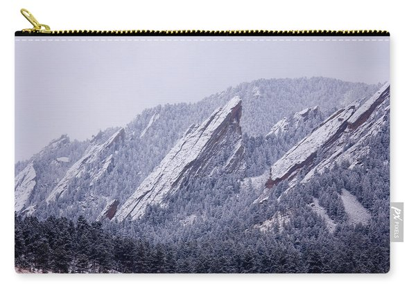 Snow Dusted Flatirons Boulder Colorado Carry-all Pouch
