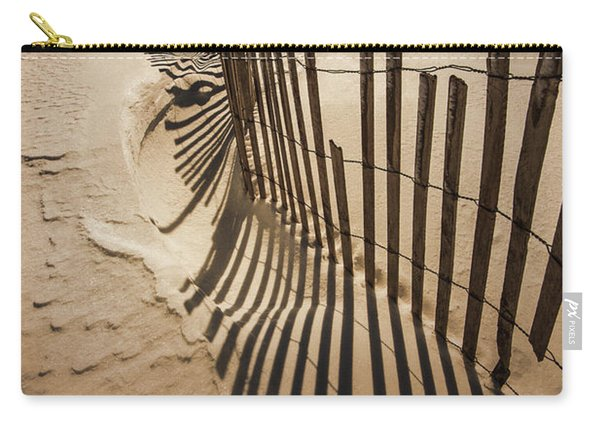 Snow Fence At Sunset Carry-all Pouch