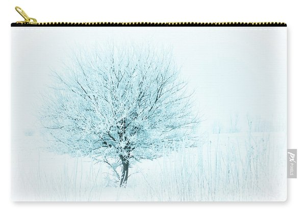 Snow Field Tree Carry-all Pouch