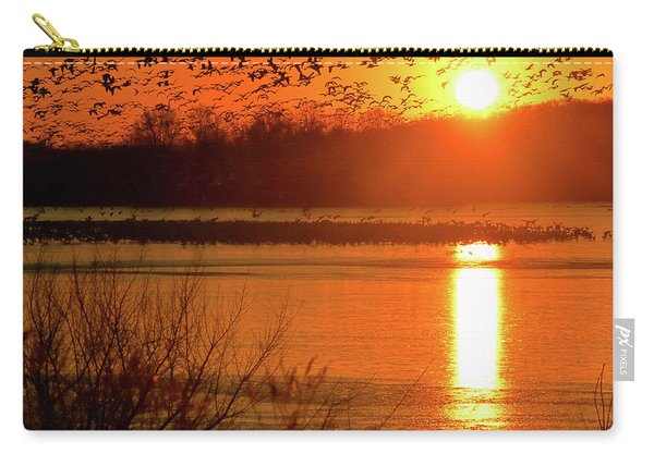 Snow Geese At Sunrise Carry-all Pouch
