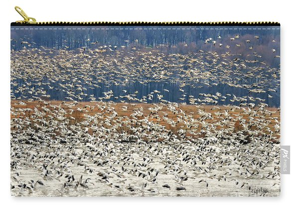 Snow Geese At Willow Point Carry-all Pouch