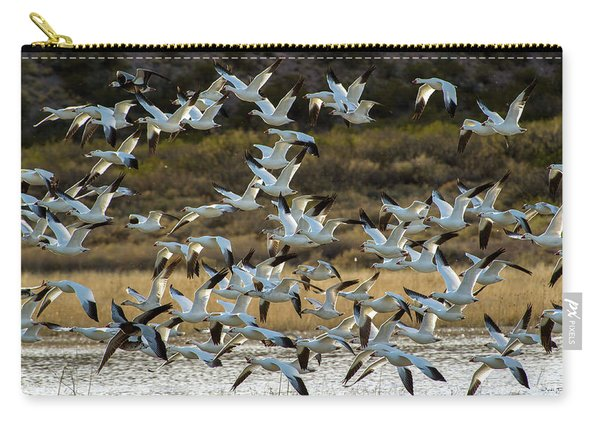 Snow Geese Flock In Flight Carry-all Pouch