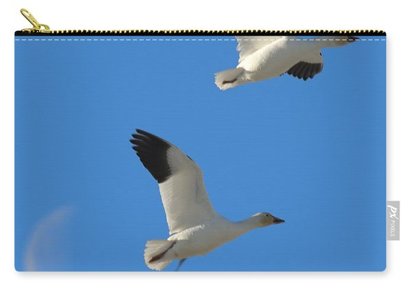 Snow Geese Moon Carry-all Pouch