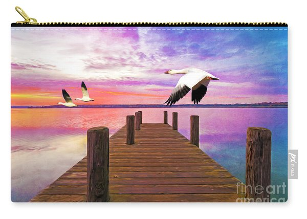 Snow Geese Passing Through Carry-all Pouch