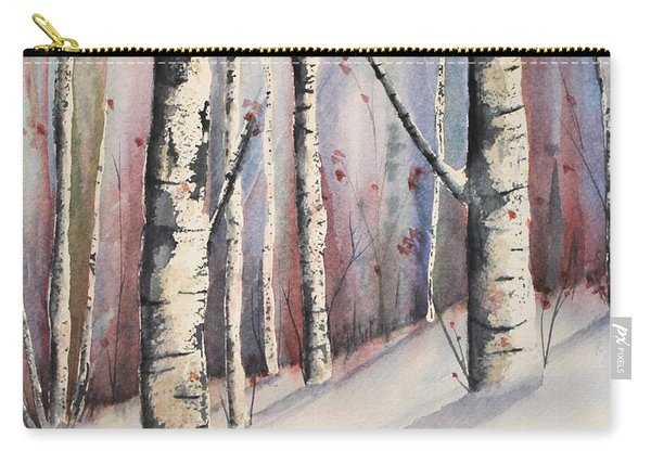 Snow In Birches Carry-all Pouch
