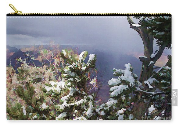 Snow In The Canyon Carry-all Pouch