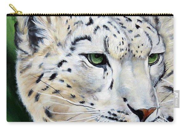 Snow Leopard Portrait Carry-all Pouch