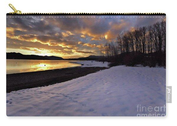 Snow On Beach Carry-all Pouch