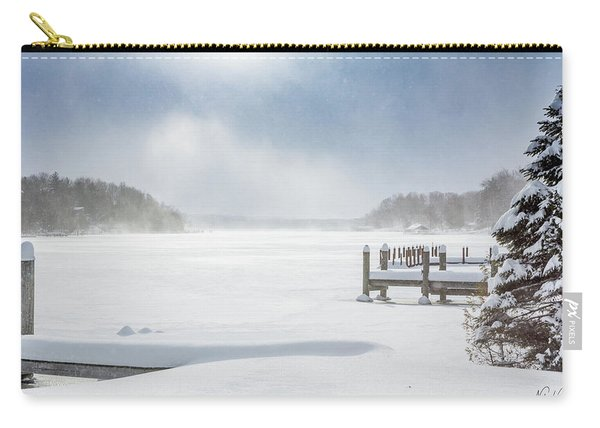 Snow On Lake Charlevoix Carry-all Pouch
