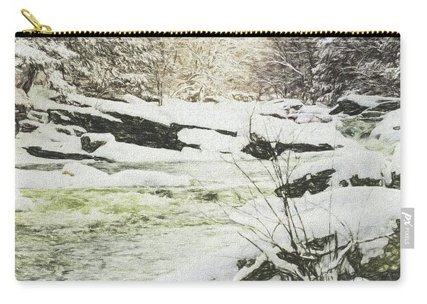Snow On The Natchaug Carry-all Pouch