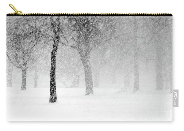 Snow Storm At Starved Rock Carry-all Pouch