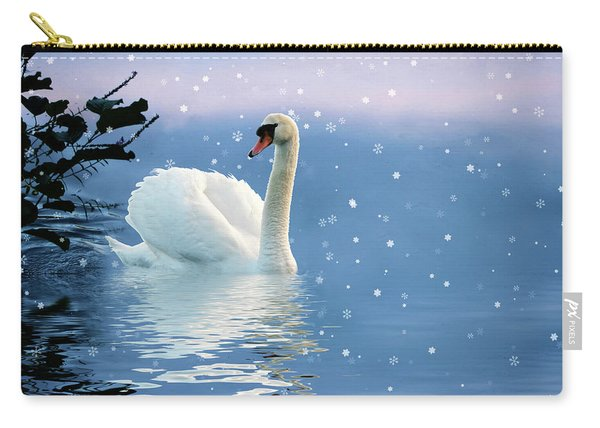 Snow Swan Swim Carry-all Pouch
