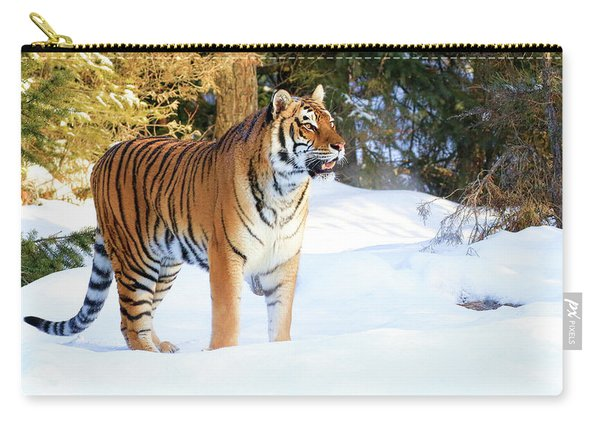 Snow Tiger Carry-all Pouch