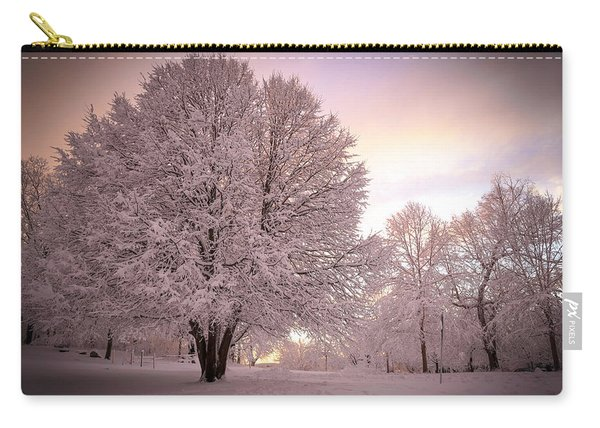 Snow Tree At Dusk Carry-all Pouch