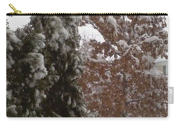Carry-all Pouch featuring the photograph Snow Trees by Jimmy Clark