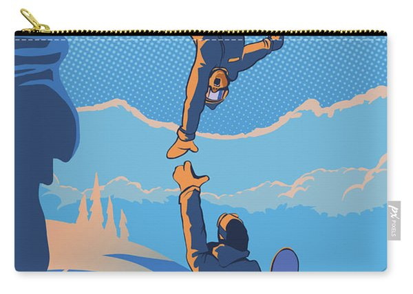 Snowboard High Five Carry-all Pouch