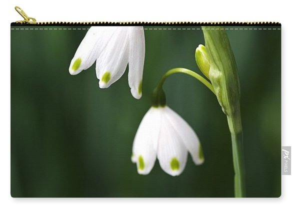 Snowdrops Painted Finger Nails Carry-all Pouch