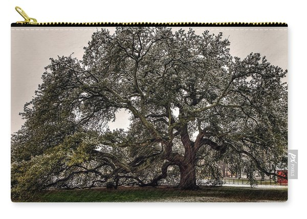 Snowfall On Emancipation Oak Tree Carry-all Pouch