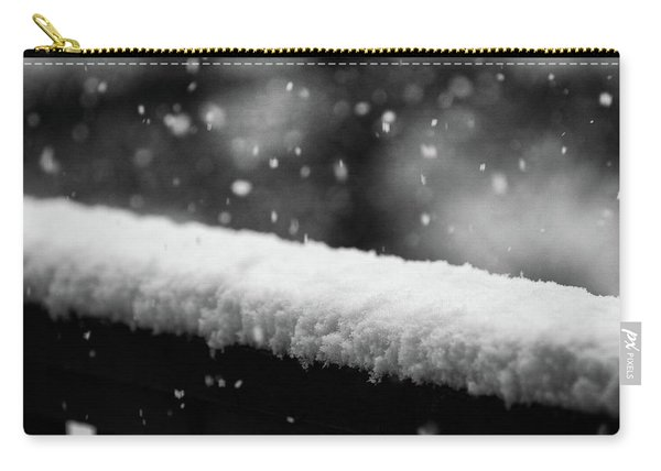 Snowfall On The Handrail Carry-all Pouch