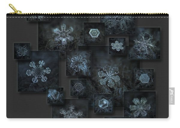 Snowflake Collage - Dark Crystals 2012-2014 Carry-all Pouch