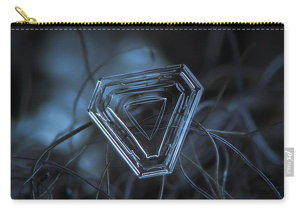 Snowflake Photo - Almost Triangle Carry-all Pouch