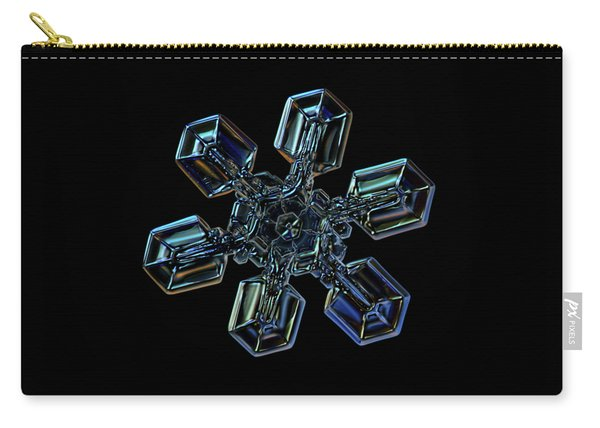 Carry-all Pouch featuring the photograph Snowflake Photo - High Voltage IIi by Alexey Kljatov