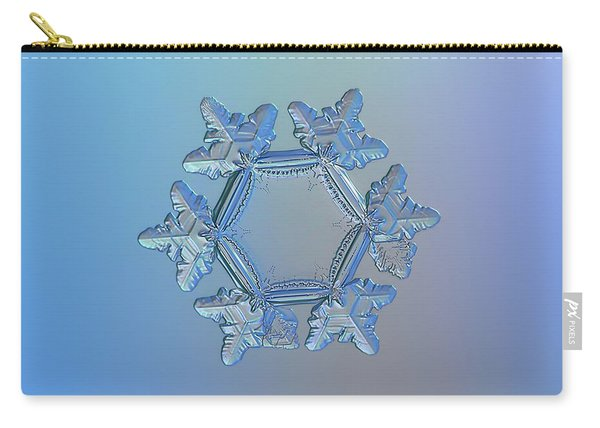 Carry-all Pouch featuring the photograph Snowflake Photo - Sunflower by Alexey Kljatov