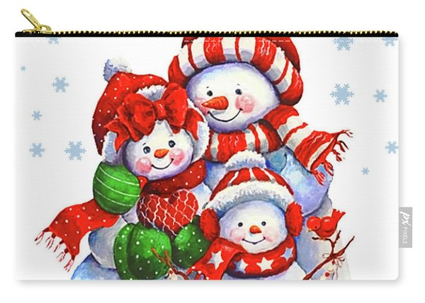 Snowman Family Carry-all Pouch