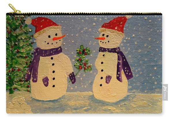 Snow-people At Christmas Carry-all Pouch