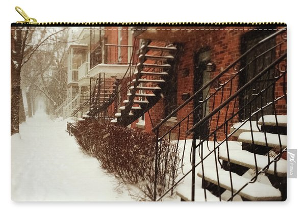 Snowstorm In Montreal Carry-all Pouch