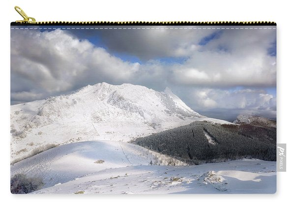 snowy Anboto from Urkiolamendi at winter Carry-all Pouch