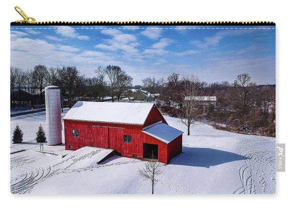 Snowy Barn Carry-all Pouch