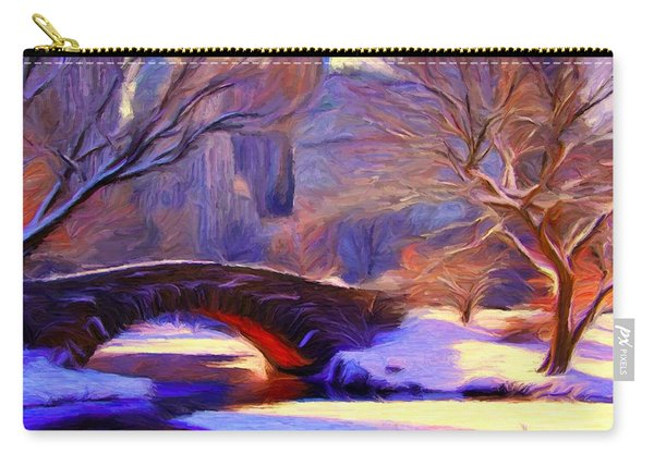 Snowy Central Park Carry-all Pouch