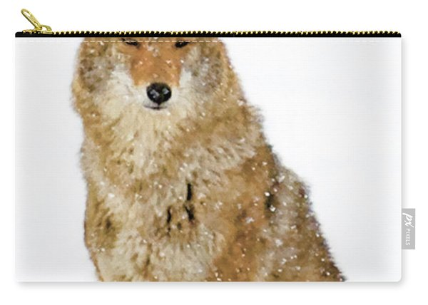 Snowy Coyote Carry-all Pouch
