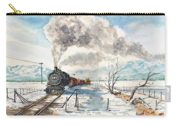 Snowy Crossing Carry-all Pouch