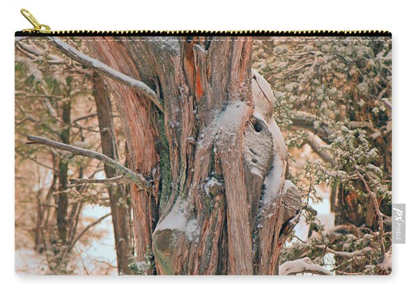 Snowy Dead Tree Carry-all Pouch
