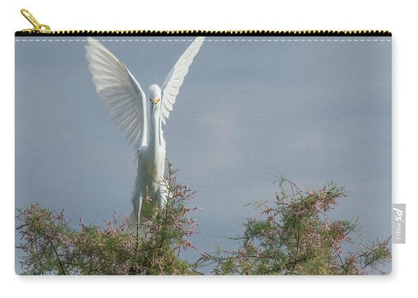 Snowy Egret 6844-100517-2 Carry-all Pouch