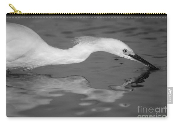 Snowy Egret Illuminated Carry-all Pouch