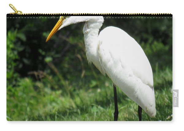 Snowy Egret Carry-all Pouch