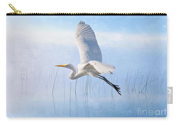 Snowy Egret Morning Carry-all Pouch