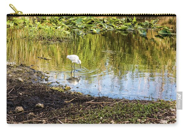 Snowy Egret Reflections Carry-all Pouch