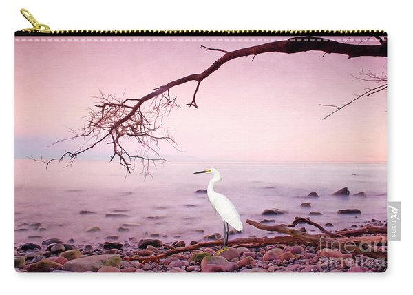 Snowy Egret Solitude Carry-all Pouch