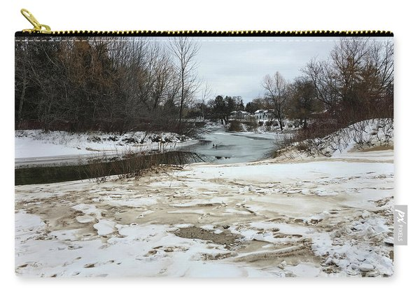 Snowy Elk Rapids River Carry-all Pouch