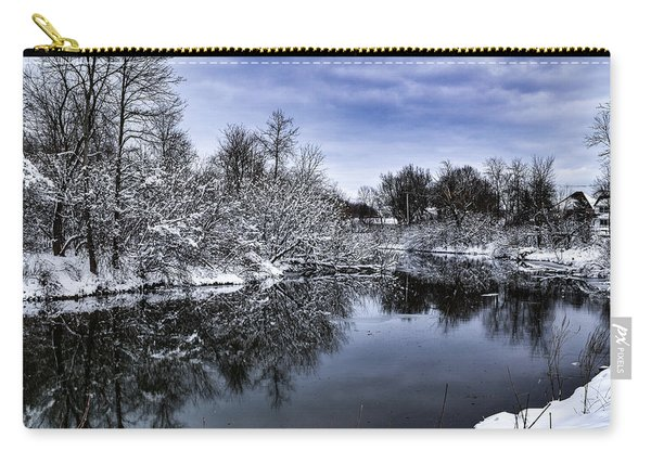 Snowy Ellicott Creek Carry-all Pouch