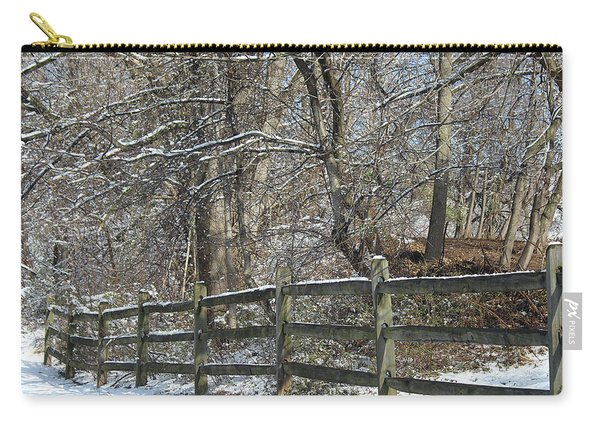 Winter Fence Carry-all Pouch