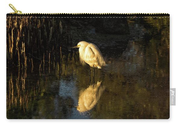 Snowy Kissed By Last Light Carry-all Pouch