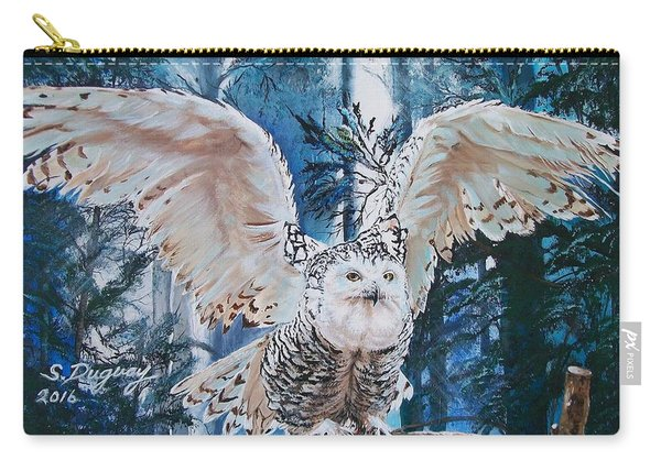 Snowy Owl On Takeoff  Carry-all Pouch