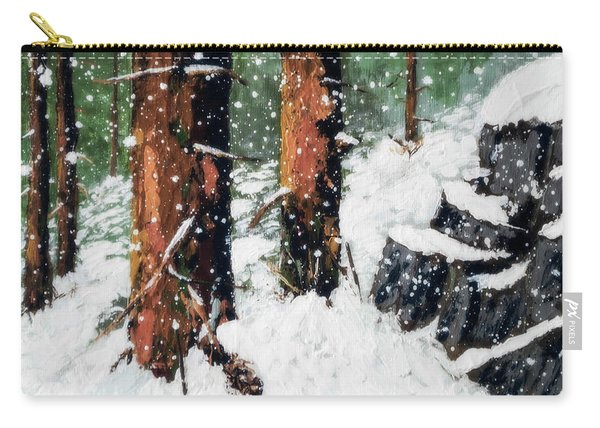 Snowy Redwood Dream Carry-all Pouch