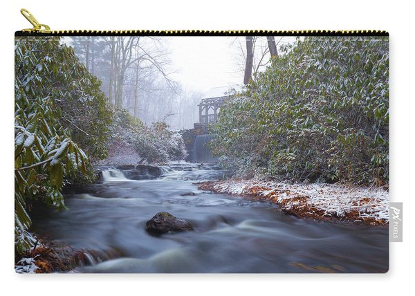 Carry-all Pouch featuring the photograph Snowy River And Waterfall by Brian Hale